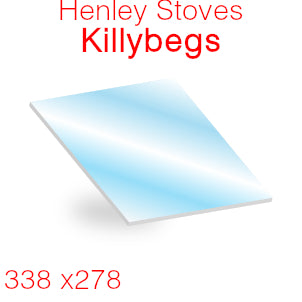 Henley Stoves Killybegs Stove Glass - 338mm x 278mm