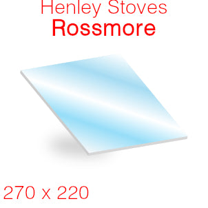 Henley Stoves Rossmore Stove Glass - 270mm x 220mm