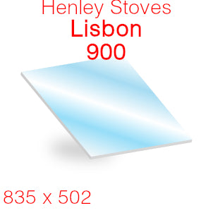 Henley Stoves Lisbon 900 Stove Glass - 835mm x 502mm