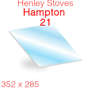 Henley Stoves Hampton 21 Stove Glass - 352mm x 285mm