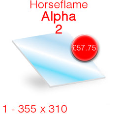Horseflame Alpha 2 Stove Glass