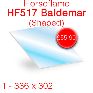 Horseflame HF517 Baldemar (Shaped) Stove Glass - 336mm x 302mm