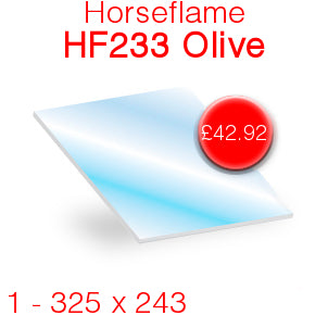 Horseflame HF233 Olive Stove Glass - 325mm x 243mm