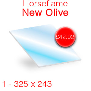Horseflame New Olive Stove Glass - 325mm x 243mm
