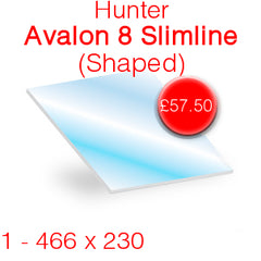 Hunter Avalon 8 Slimline Shaped Stove Glass