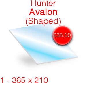 Hunter Avalon 5 Stove Glass - 365mm x 210mm (shaped)