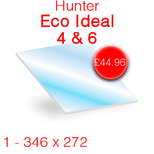 Hunter Eco Ideal 4 & 6 Stove Glass - 346mm x 272mm