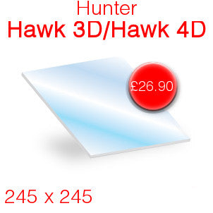 Hunter Hawk 3D / Hawk 4D Stove Glass - 245mm x 245mm