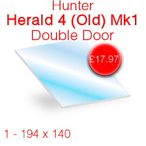 Hunter Herald 4 (Old) Mk1 Double Door Stove Glass - 194mm x 140mm