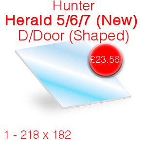 Hunter Herald 5/6/7 (Old) Stove Glass - 203mm x 168mm
