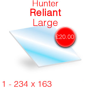 Hunter Reliant Large Stove Glass - 234mm x 163mm