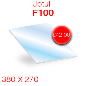 Jotul F100 Stove Glass - 380mm x 270mm