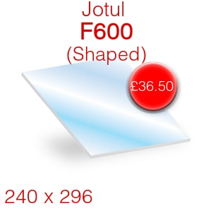Jotul F600 Stove Glass - 240mm x 296mm (shaped)