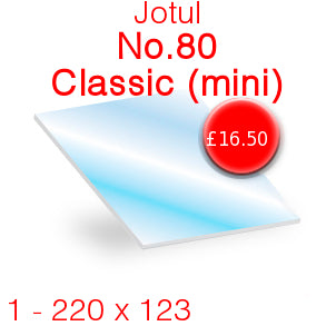 Jotul No.80 Classic (Mini) Stove Glass - 220mm x 123mm