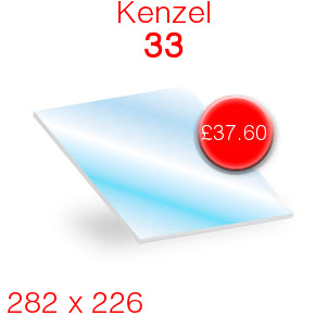 Kenzel 33 Stove Glass - 282mm x 226mm
