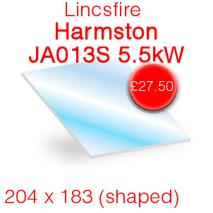 Lincsfire Harmston 413STV013S 5.5kw (Shaped) Stove Glass - 204mm x 183mm