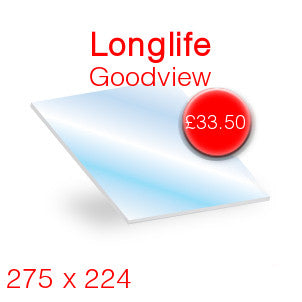 Longlife Goodview Stove Glass - 275mm x 224mm