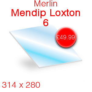Merlin Mendip Loxton 6 Stove Glass - 314mm x 280mm