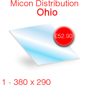 Micon Distribution Ohio Stove Glass - 380mm x 290mm