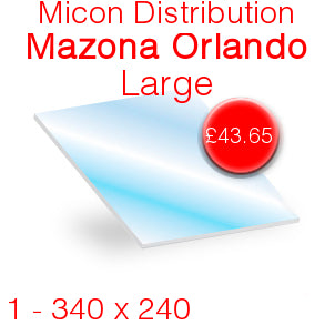 Micon Distribution Mazona Orlando Large Stove Glass - 340mm x 240mm