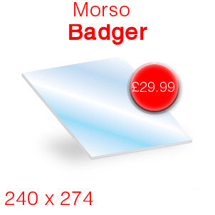 Morso Badger Stove Glass - 240mm x 274mm
