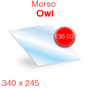 Morso Owl Stove Glass - 340mm x 245mm