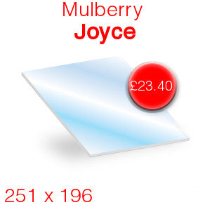 Mulberry Joyce Stove Glass - 251mm x 196mm