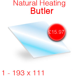 Natural Heating Butler Stove Glass - 193mm x 111mm