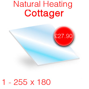 Natural Heating Cottager Stove Glass - 255mm x 180mm
