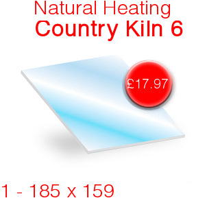 Natural Heating Country Kiln 6 Stove Glass - 185mm x 159mm