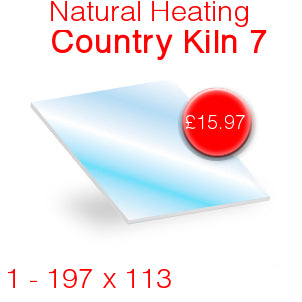 Natural Heating Country Kiln 7 Stove Glass - 197mm x 113mm