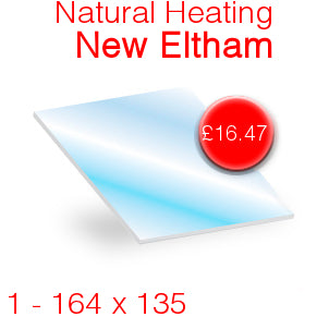 Natural Heating New Eltham Stove Glass - 164mm x 135mm