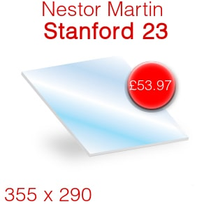 Nestor Martin Stanford 23 Stove Glass - 355mm x 290mm