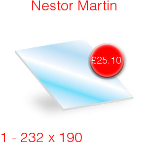Nestor Martin Stove Glass - 232mm x 190mm