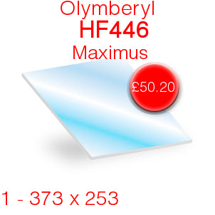 Olymberyl HF446 Maximus Stove Glass 373mm x 253mm