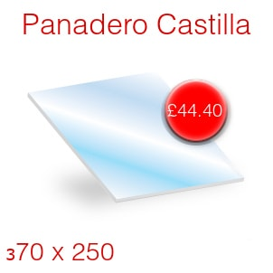 Panadero Castilla Stove Glass - 370mm x 250mm