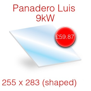 Panadero Luis 9kw Stove Glass - 255mm x 283mm (shaped)