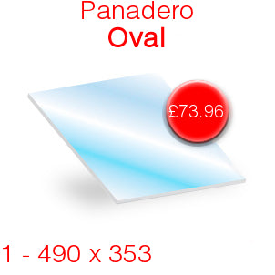 Panadero Oval Stove Glass - 490mm x 353mm