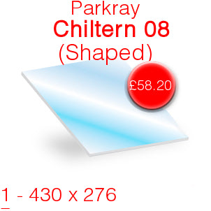 Parkray Chiltern 08 (Shaped) Stove Glass - 430mm x 276mm