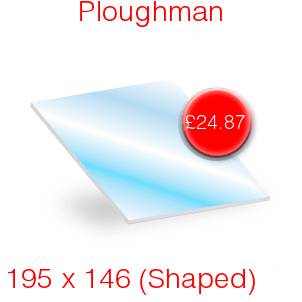 Ploughman Stove Glass - 195mm x 146mm (shaped)