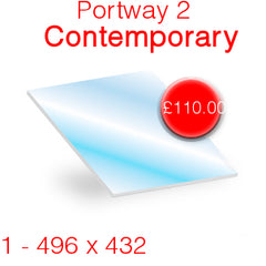 Portway 2 Contemporary Stove Glass