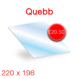 Quebb Stove Glass - 220mm x 198mm