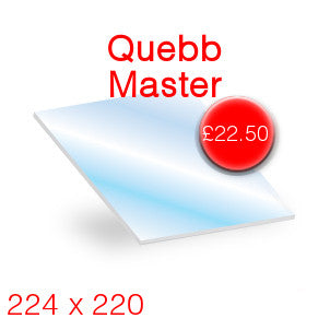 Quebb Master Stove Glass - 224mm x 220mm