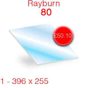 Rayburn 80 Stove Glass - 396mm x 255mm