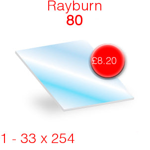 Rayburn 80 Stove Glass - 33mm  x 254mm