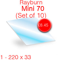 Rayburn Mini 70 (Set of 10) Stove Glass
