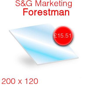 S&G Marketing Forestman Stove Glass - 200mm x 120mm