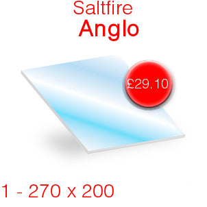 Saltfire Anglo Stove Glass - 270mm x 200mm