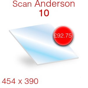 Scan Anderson 10 Stove Glass - 454mm x 390mm