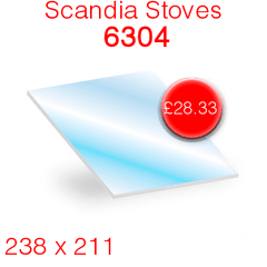 Scandia Stoves 6304 Stove Glass